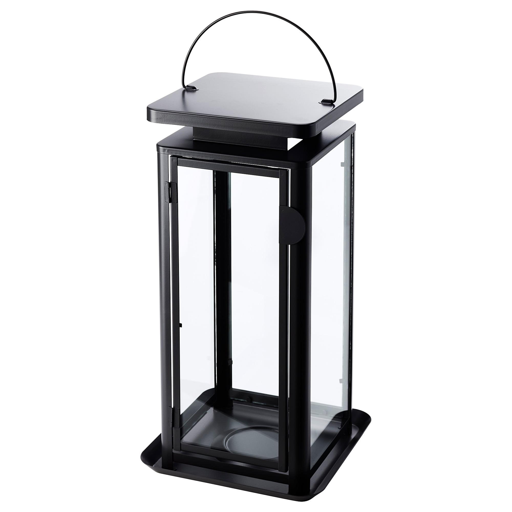 Sinnesro Lantern F Block Candle, In/outdoor Grey 45 Cm - Ikea within Outdoor Grey Lanterns (Image 19 of 20)