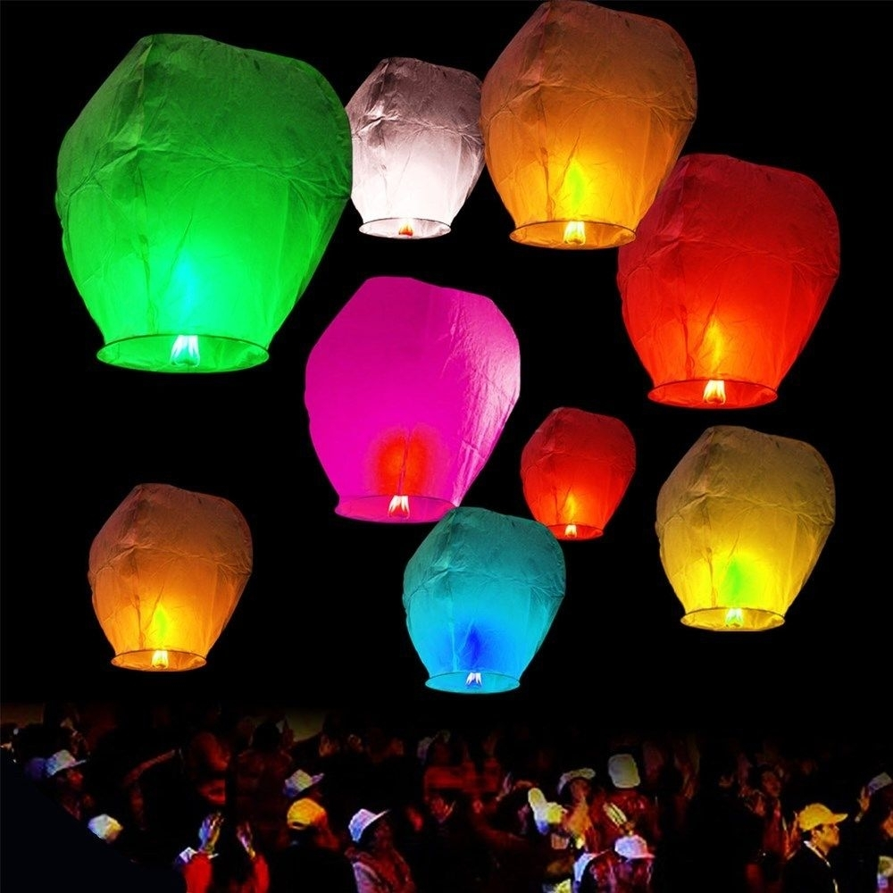 Sky Lantern | Trance Balloon | Paper Lanterns | Chinese Lantern throughout Outdoor Memorial Lanterns (Image 19 of 20)