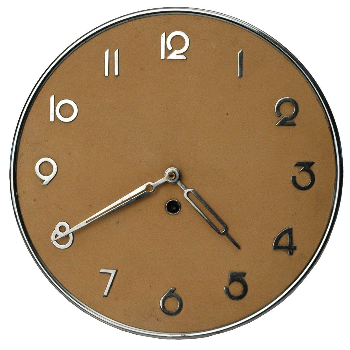 Sleek Art Deco Modernism German Kienzle Wall Clock | Homewares pertaining to Art Deco Wall Clock (Image 19 of 20)