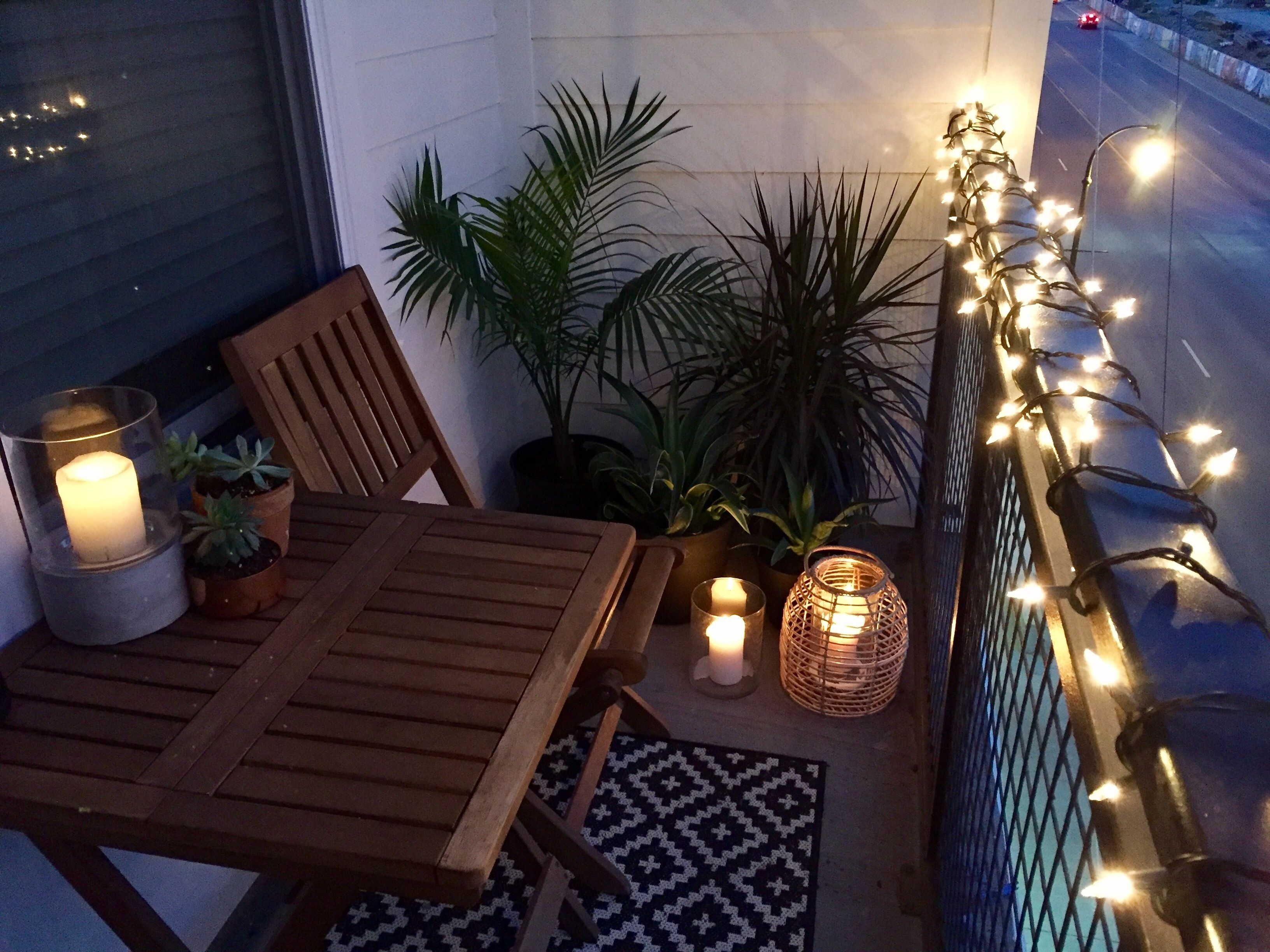 Small Balcony Design Ideas. Target, World Market, Home Depot inside Outdoor Tropical Lanterns (Image 16 of 20)