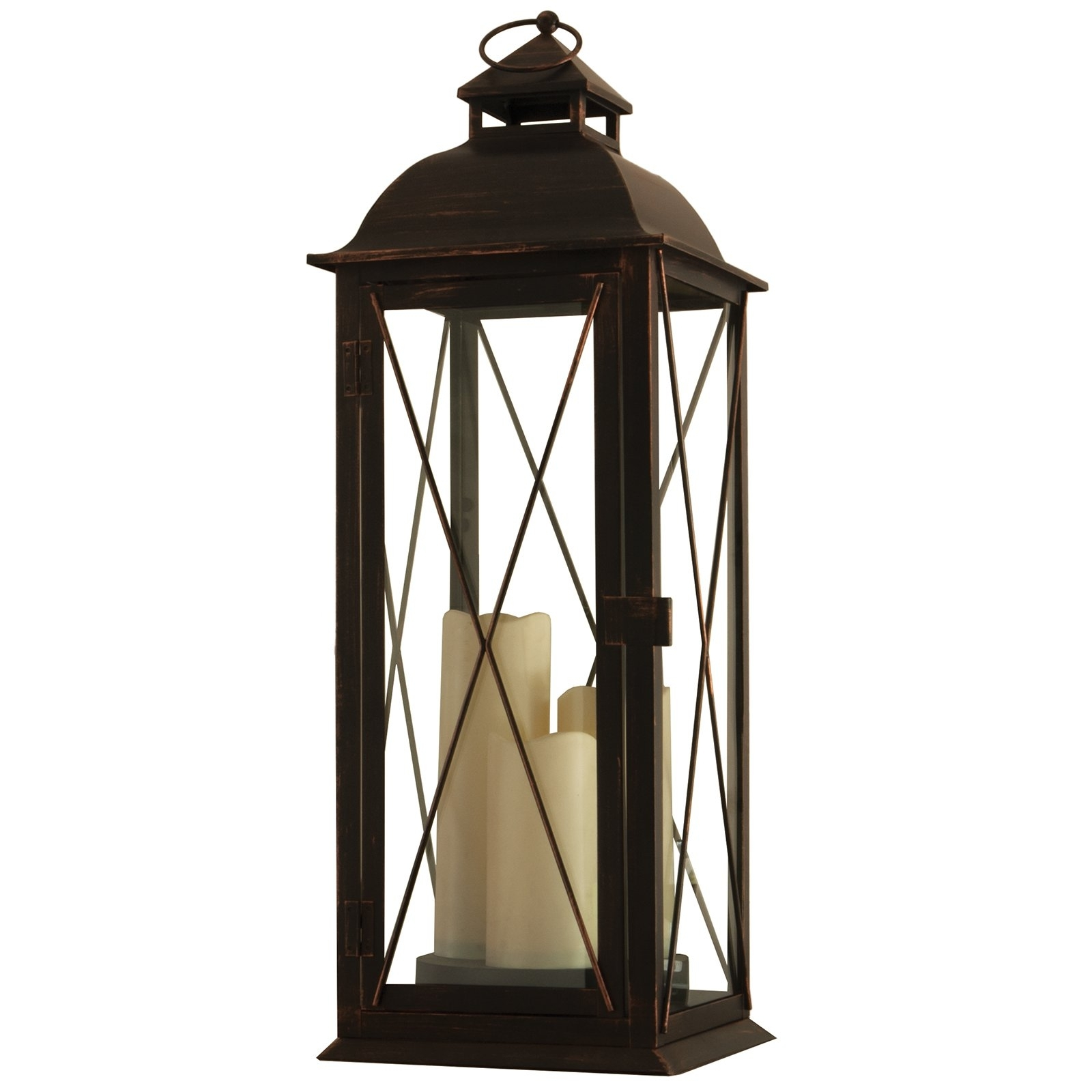Smart Design Salerno Triple Candle Led Lantern W/ On Off Timer With Regard To Outdoor Timer Lanterns (View 10 of 20)