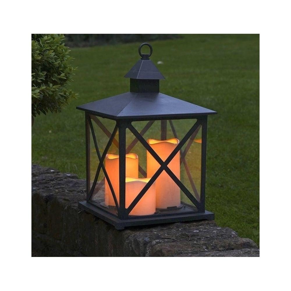Smart Garden Monterrey Battery Operated Outdoor Lantern in Outdoor Lanterns With Battery Operated (Image 20 of 20)