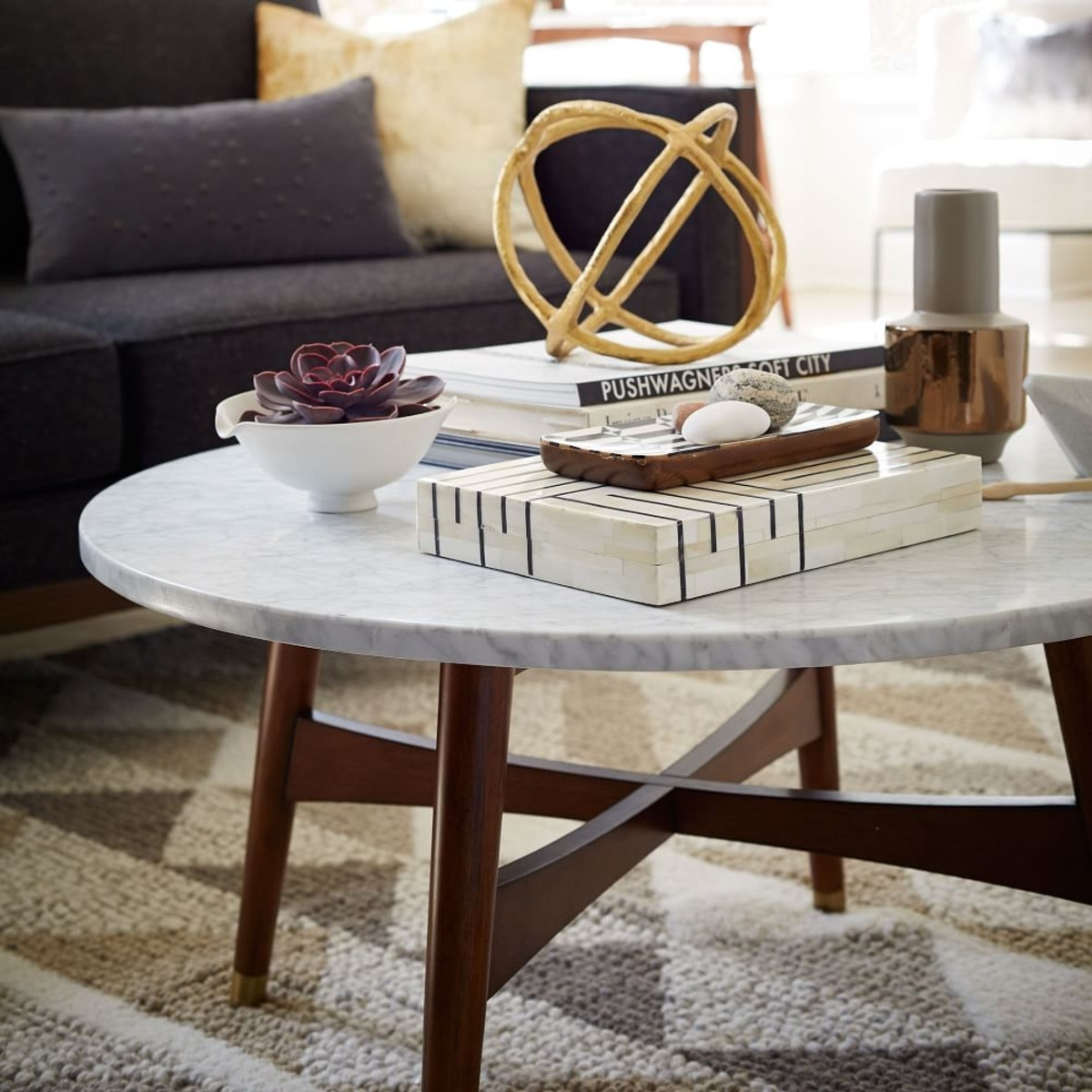 Smart Round Marble Coffee Table — Inside Houses : Round Marble With Regard To Smart Round Marble Brass Coffee Tables (View 28 of 30)