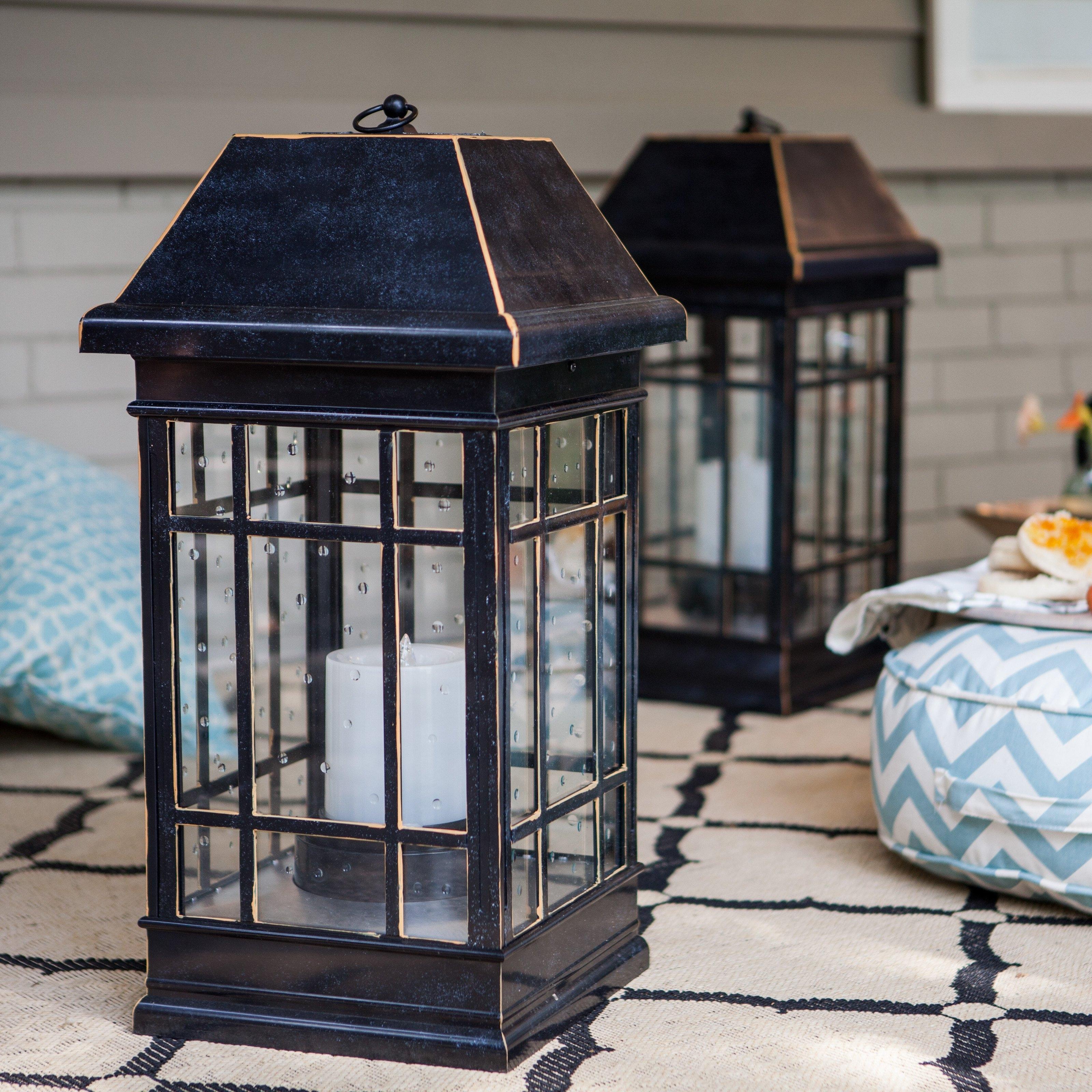 Smart Solar San Rafael Estate Solar Mission Lantern | Hayneedle pertaining to Cheap Outdoor Lanterns (Image 19 of 20)