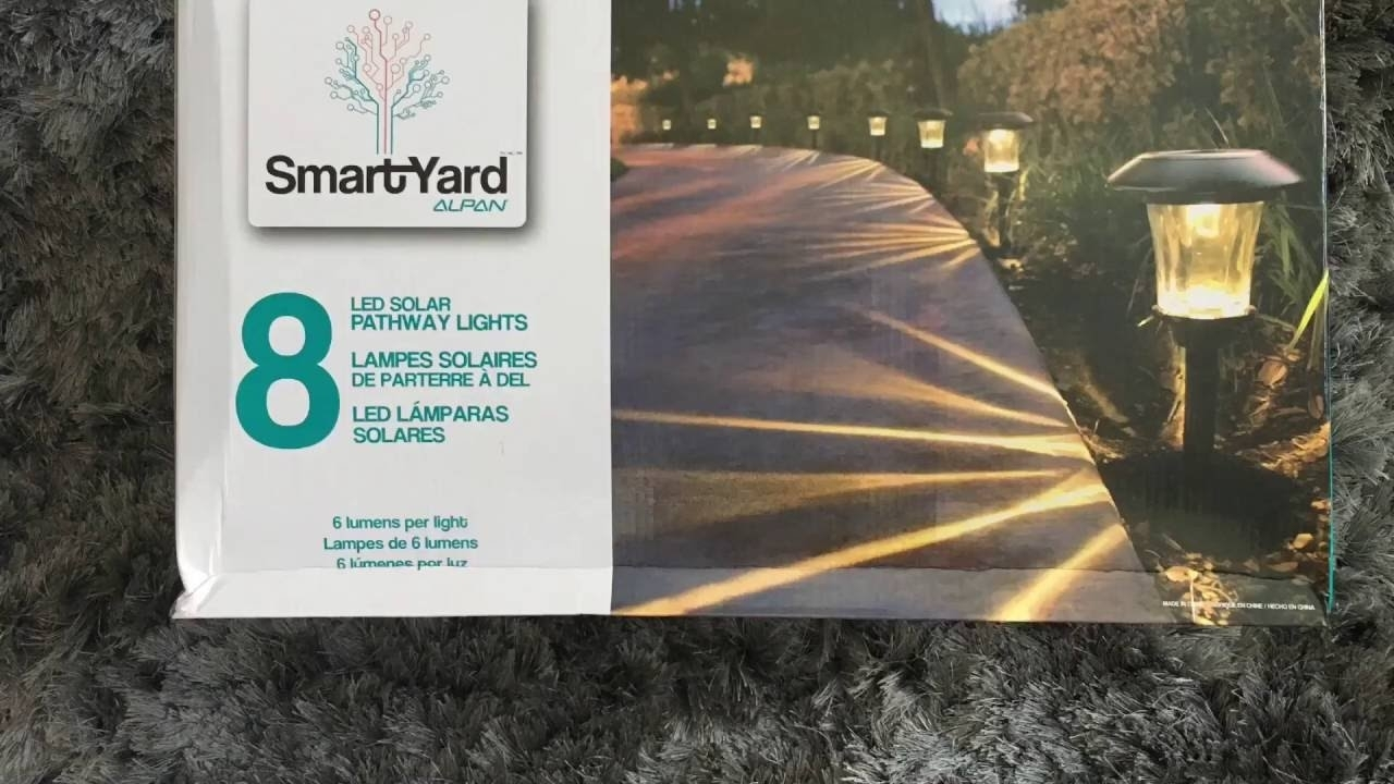 Smartyard Solar Led Large Pathway Lights From Costco – Youtube With Regard To Outdoor Lanterns At Costco (View 19 of 20)