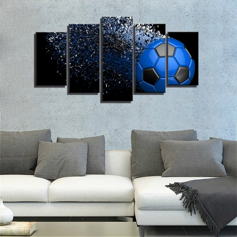 Soccer Artwork Waterproof Giclee Print Football Sport Wall Art In Sports Wall Art (View 11 of 20)