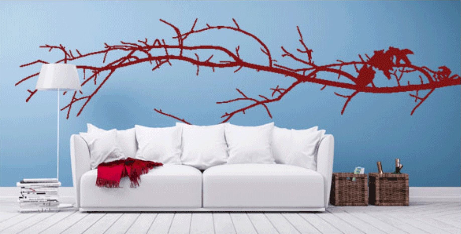 Sofa Ideas. Custom Wall Decals - Best Home Design Interior 2018 with Custom Wall Art (Image 19 of 20)