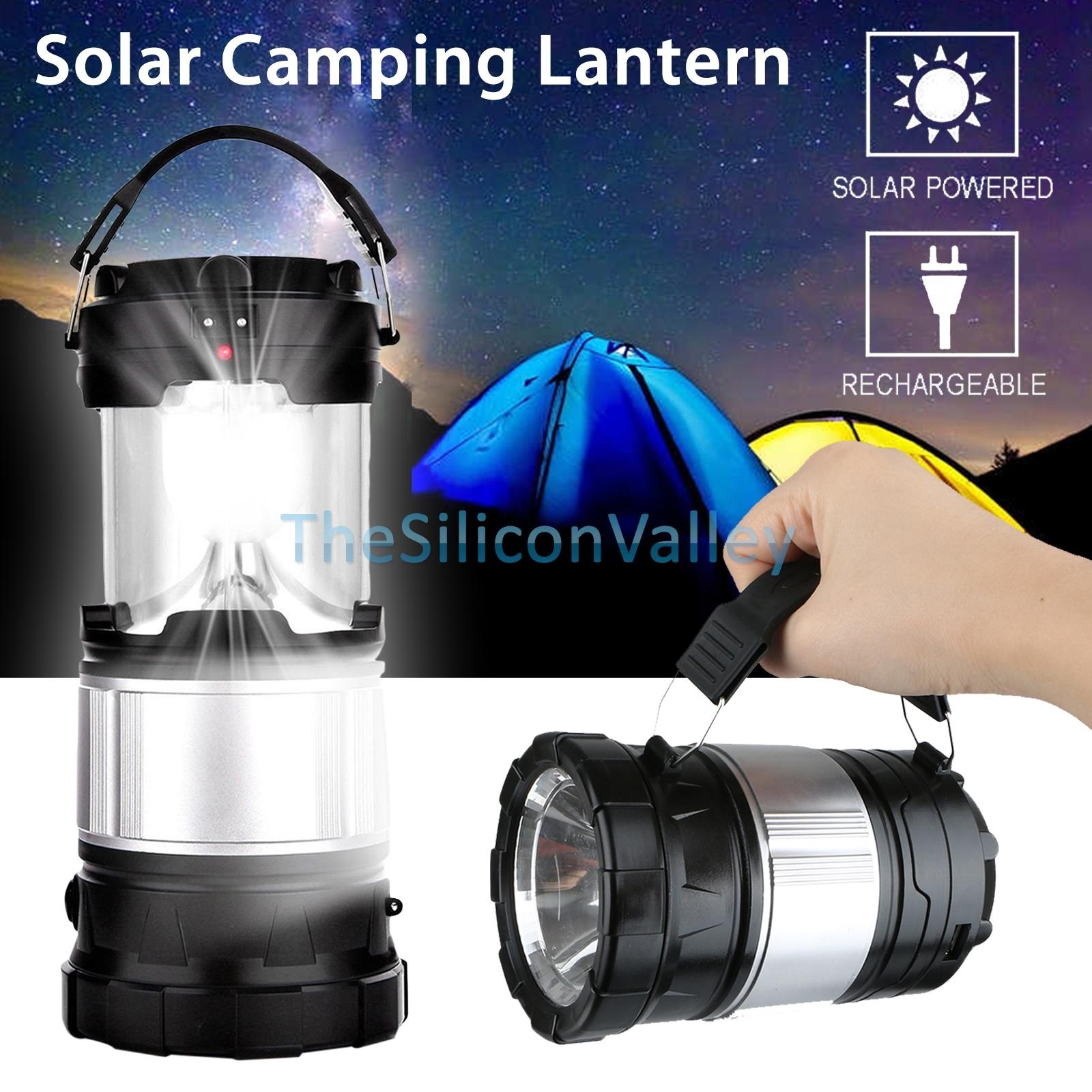 Solar Camping Lantern Lamp Portable Outdoor Rechargeable Led Tent regarding Outdoor Rechargeable Lanterns (Image 18 of 20)