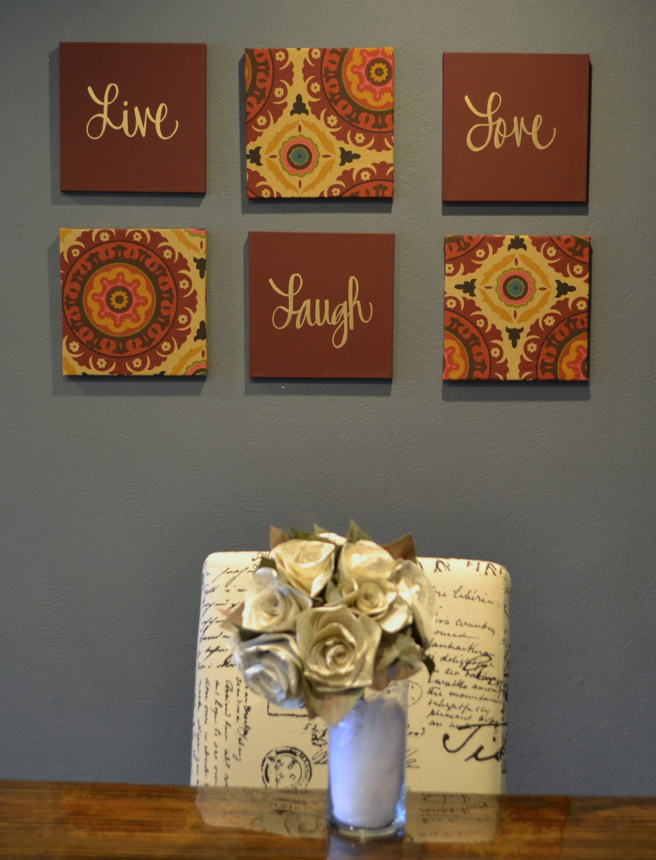 "Solar Flair"" 6 Piece Wall Decor Set Marsala Burgundy Maroon Henna For Burgundy Wall Art (View 16 of 20)"