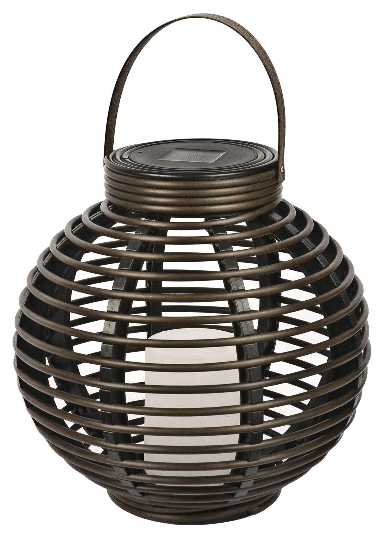 Solar Flickering Basket Hanging Plastic Lantern Rattan And regarding Outdoor Rattan Lanterns (Image 16 of 20)