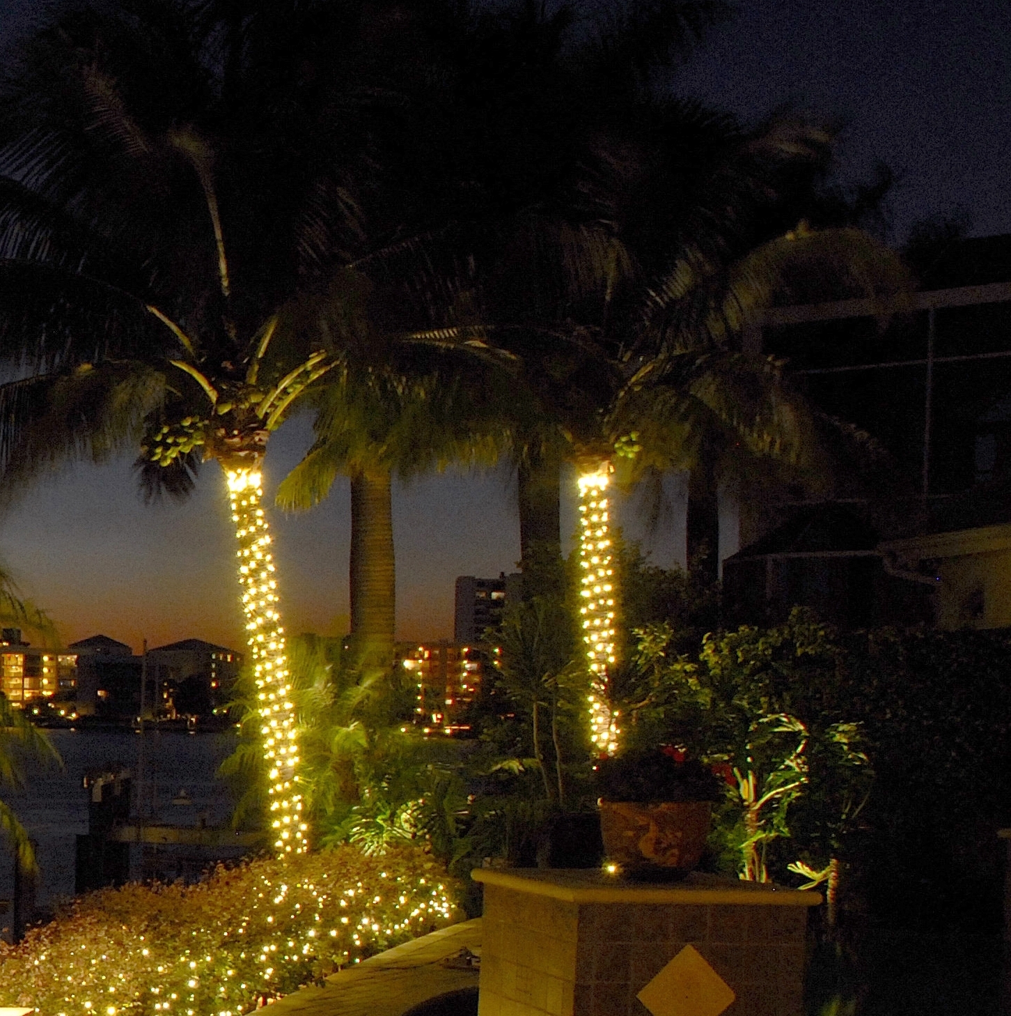 Solar Lights For Trees Palm Tree Outdoor Photo 3 Best Spot Uk intended for Outdoor Lanterns for Trees (Image 19 of 20)