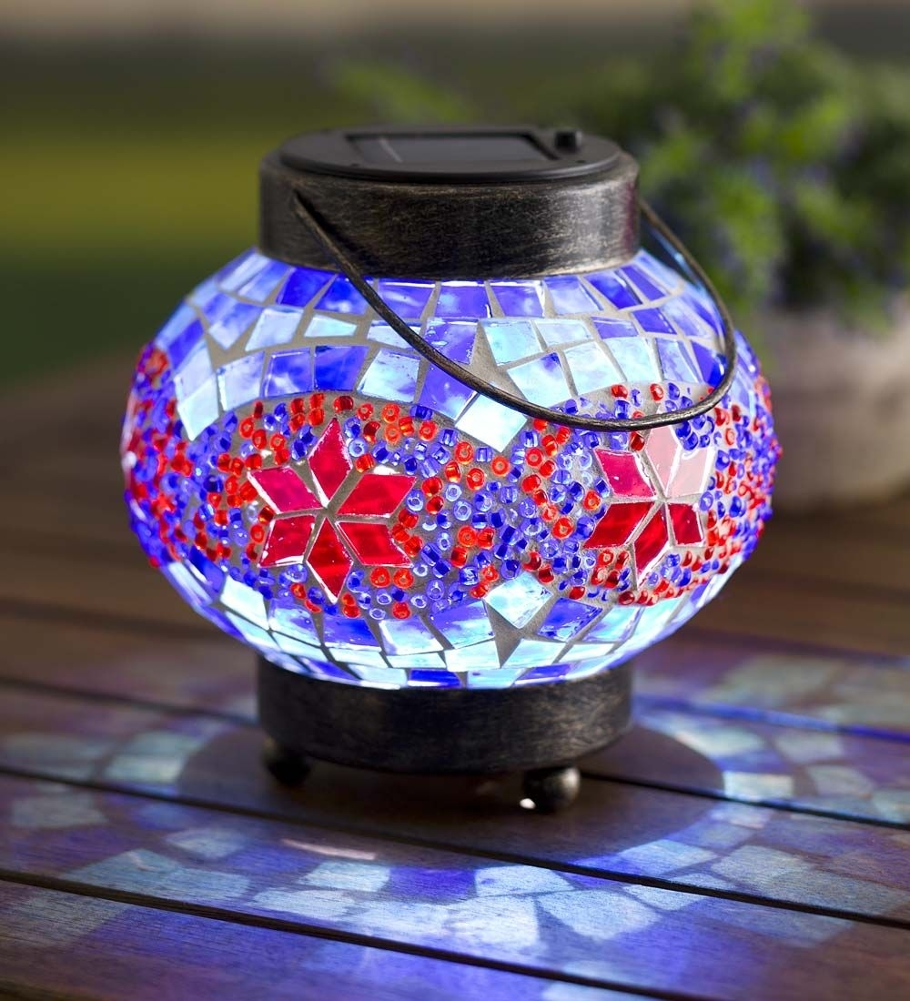 Solar Mosaic Lantern | Solar Lighting | Outdoor Lighting, Solar Throughout Outdoor Mosaic Lanterns (View 16 of 20)