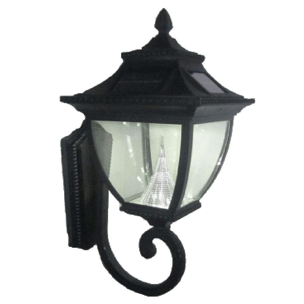 Solar – Outdoor Lanterns – Outdoor Lighting – Lighting – The Home Depot In Resin Outdoor Lanterns (View 15 of 20)