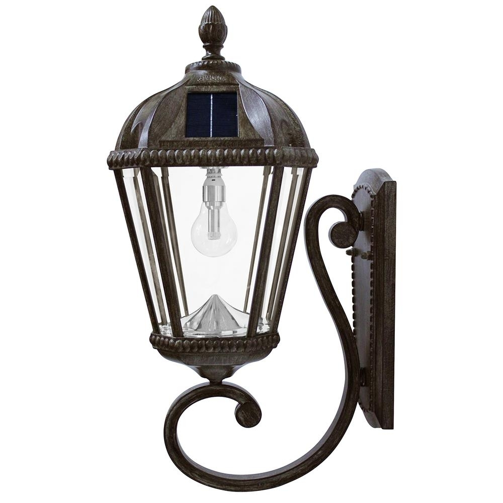 Solar - Outdoor Wall Mounted Lighting - Outdoor Lighting - The Home pertaining to Outdoor Lanterns on Stands (Image 18 of 20)