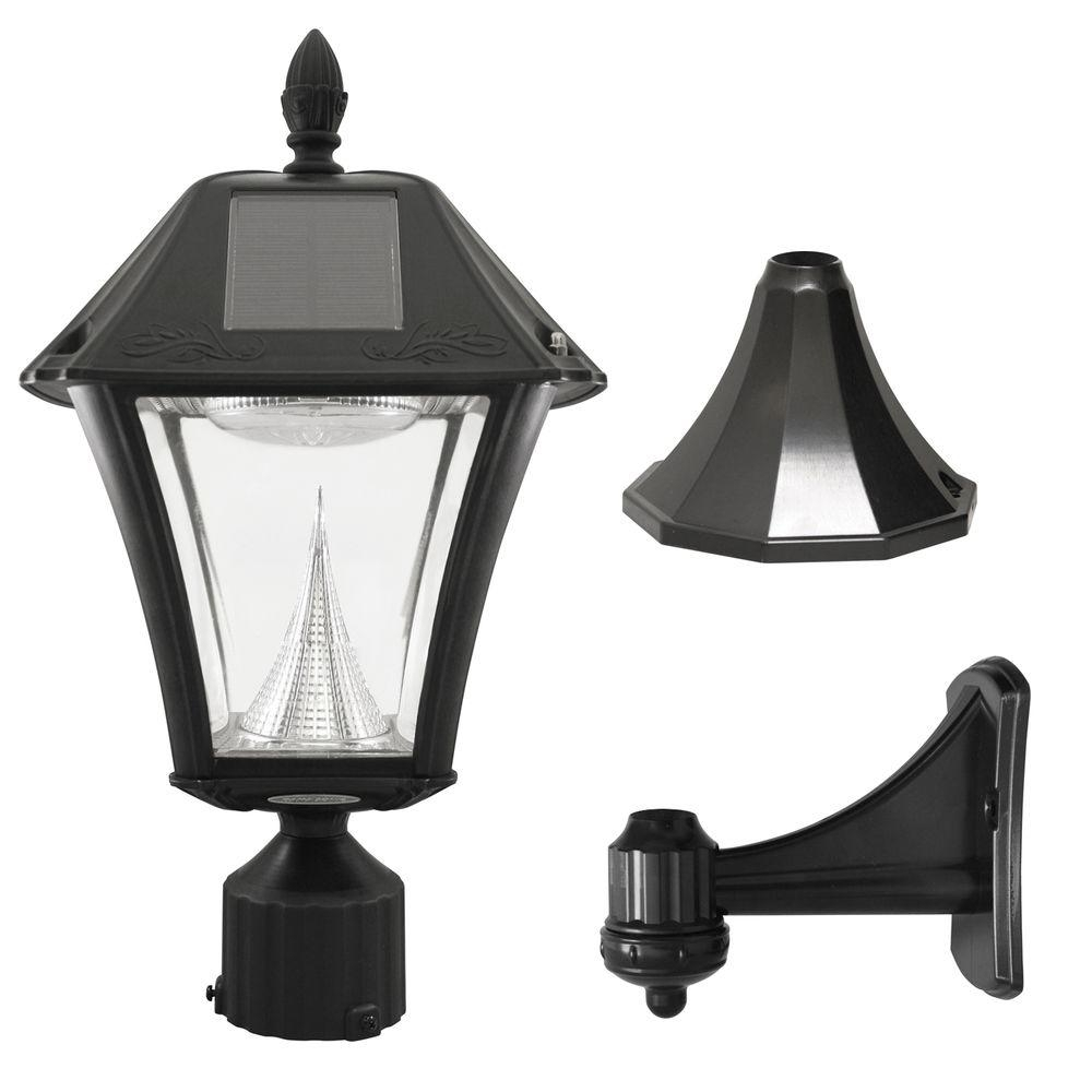 Solar - Post Lighting - Outdoor Lighting - The Home Depot regarding Outdoor Lanterns For Pillars (Image 20 of 20)