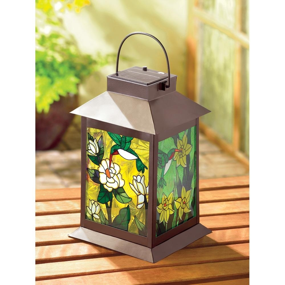 Solar-Powered Floral Lantern – Nowa's Marketplace throughout Colorful Outdoor Lanterns (Image 19 of 20)