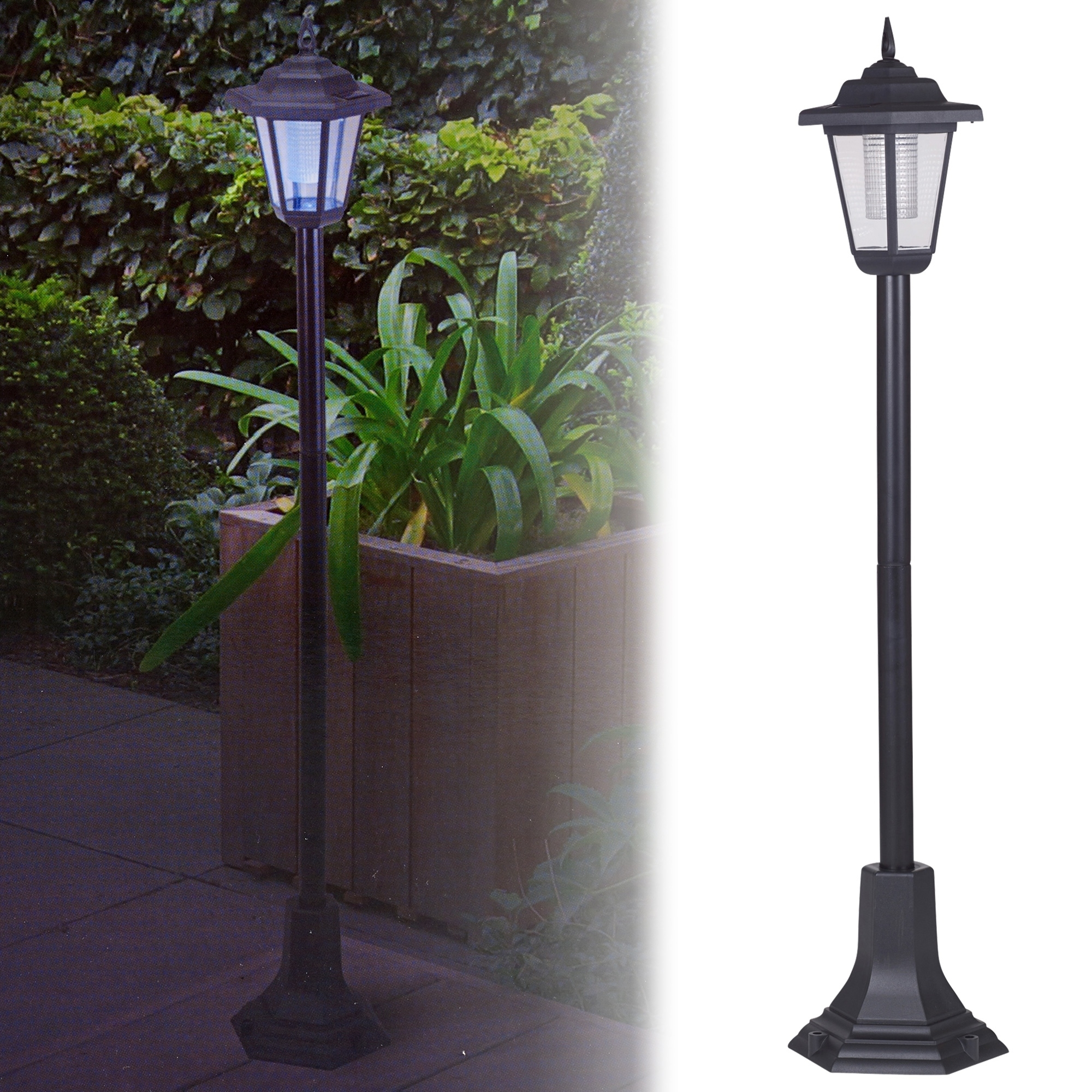 Solar Powered Garden Lights Lantern Lamp Black Led Pathway Driveway intended for Outdoor Driveway Lanterns (Image 18 of 20)
