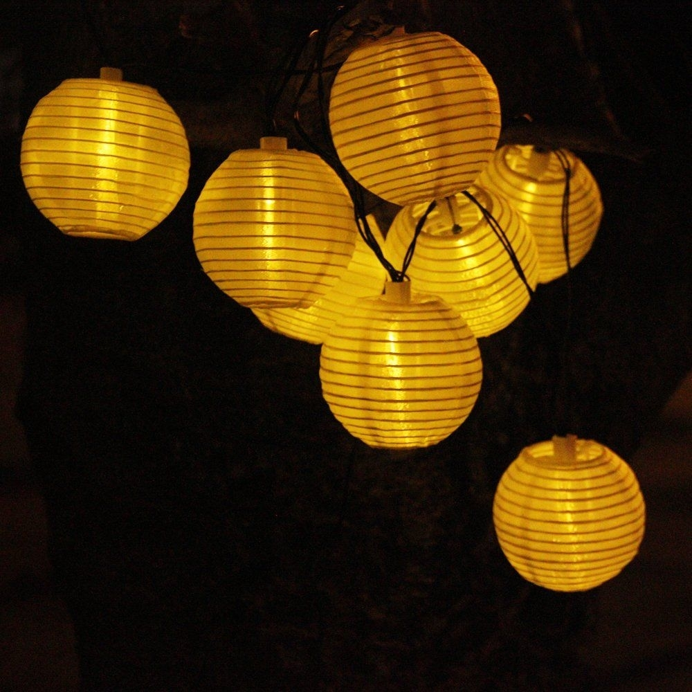 Solar String Lights Outdoor 15.7Ft 20 Led Fairy Lights Warm White regarding Outdoor Ball Lanterns (Image 17 of 20)