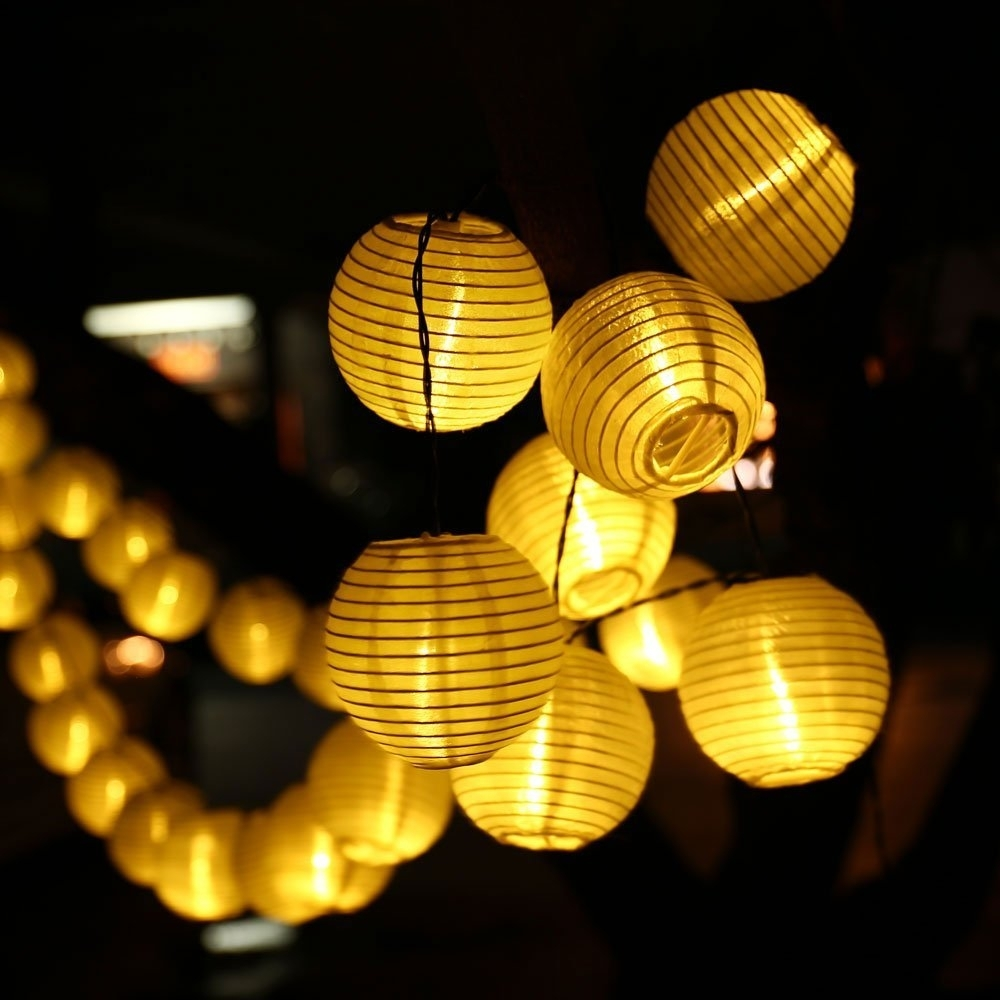 Solar String Lights. Previous · / Next Solar String Lights - Unowinc.co regarding Outdoor Ball Lanterns (Image 18 of 20)