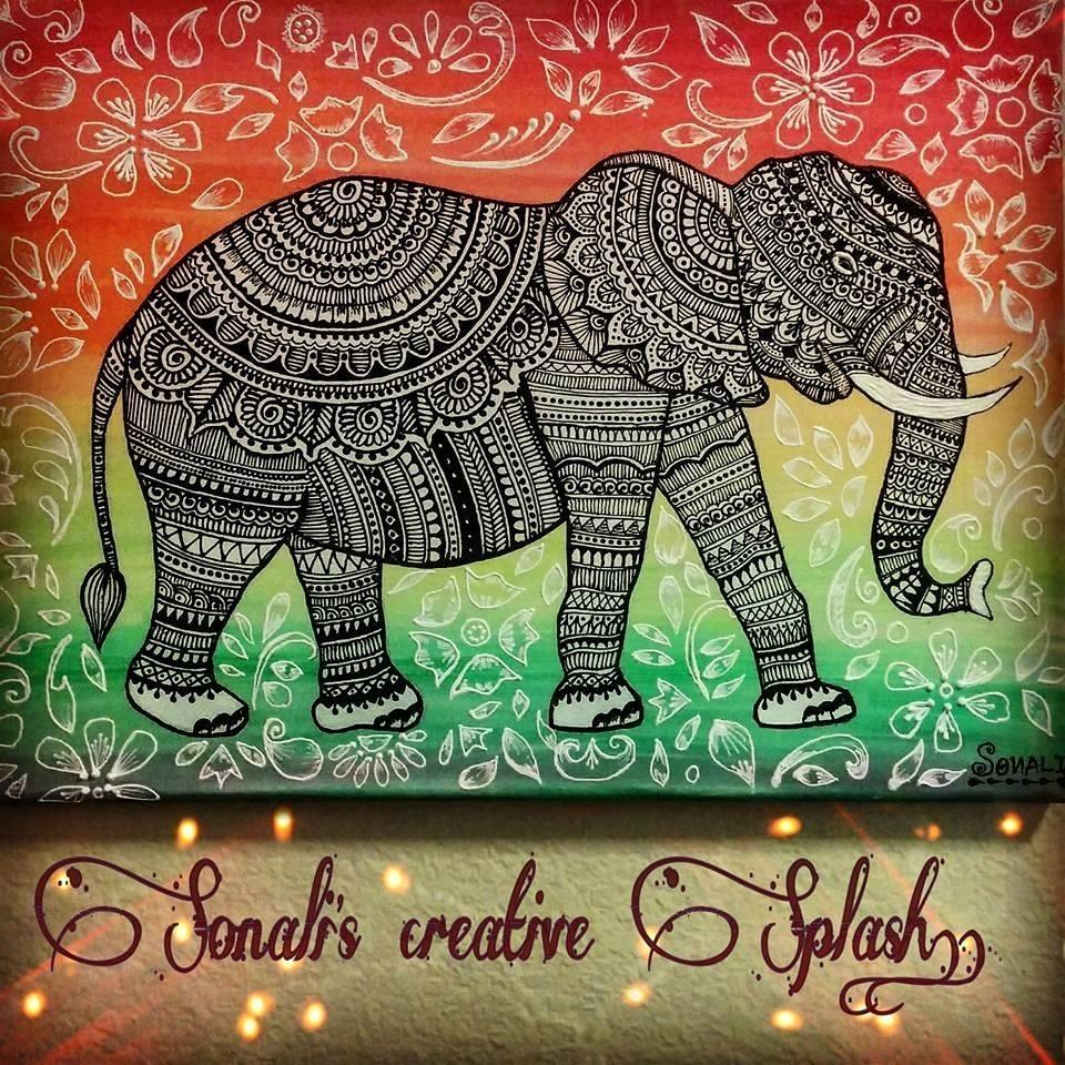 Sonali's Creative Splash!: Henna Inspired Canvas Art! throughout Henna Wall Art (Image 16 of 20)