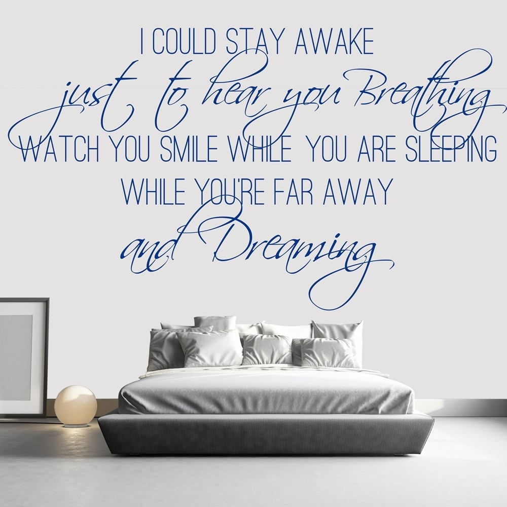 Song Lyric Quotes Wall Stickers | Iconwallstickers.co (View 15 of 20)
