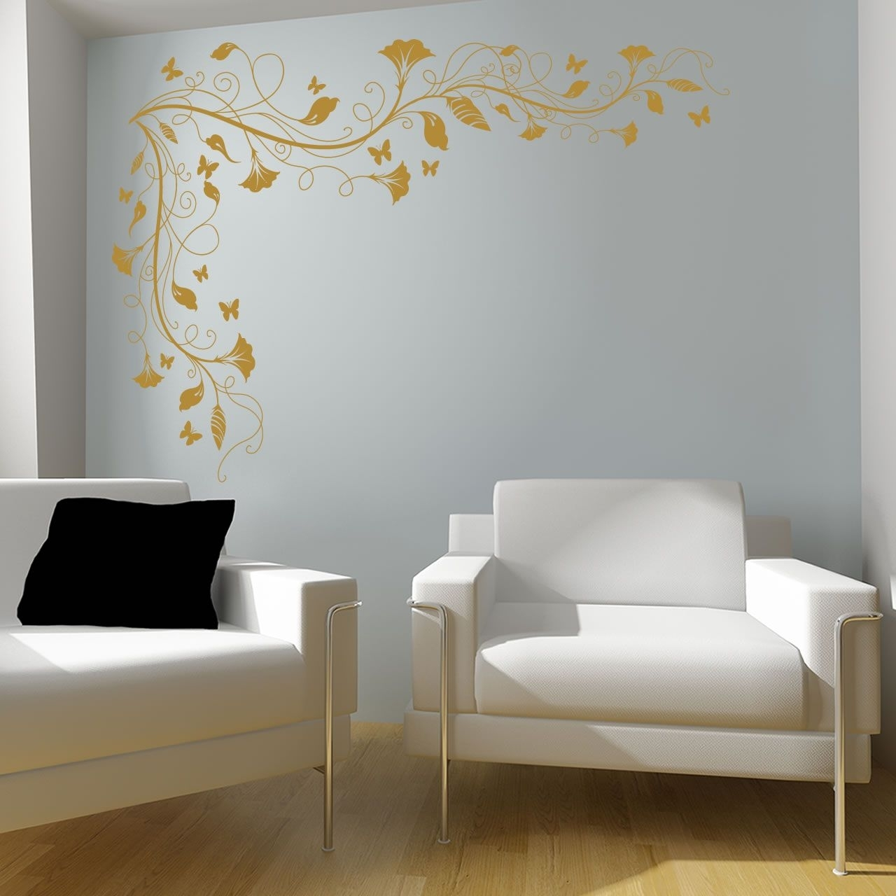 Spartacus Art - Wall Stickers / Decals / Transfers - Vines And within Corner Wall Art (Image 19 of 20)