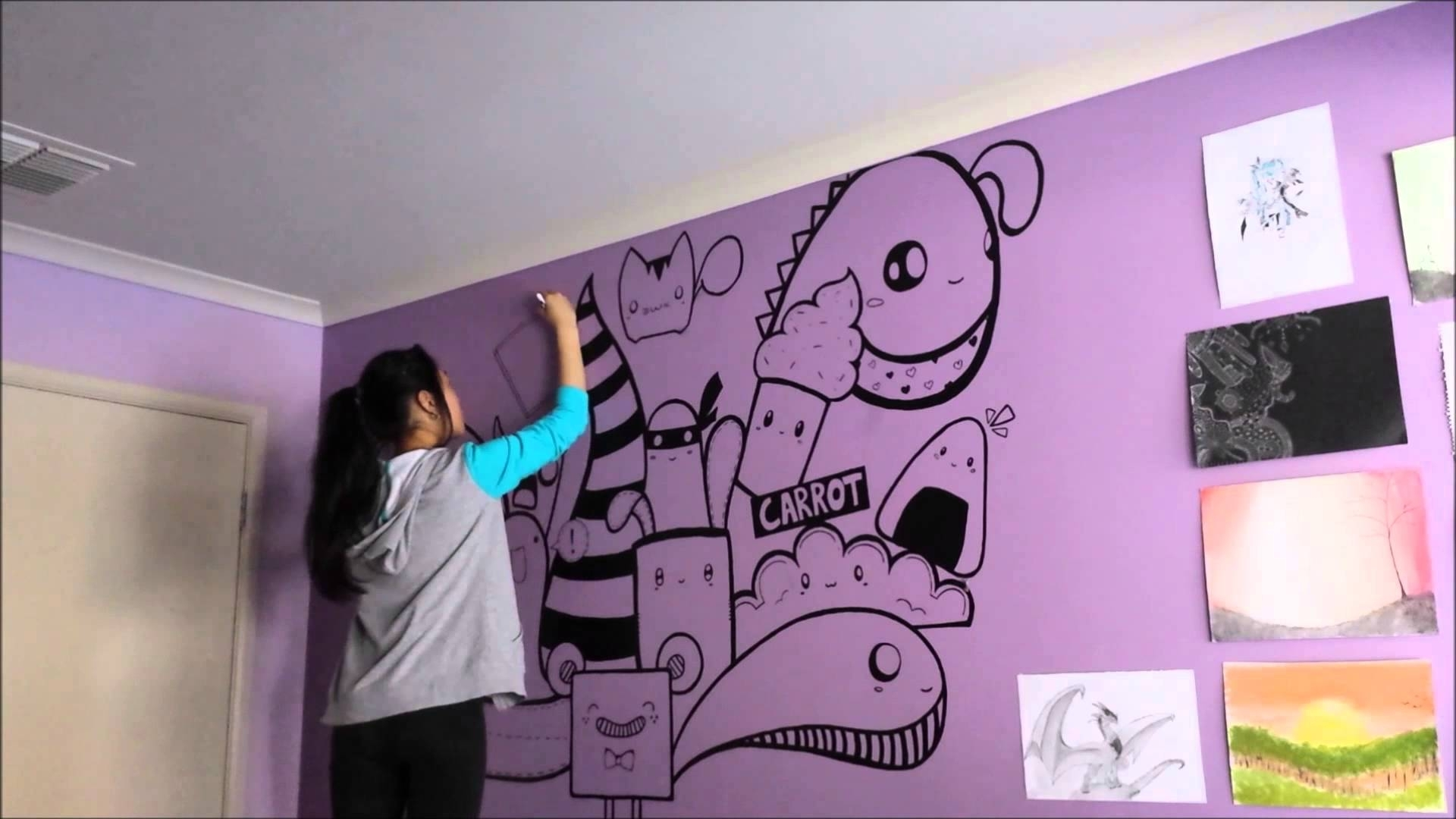 Speed Painting - Wall Artjulie - Youtube regarding Wall Art Paintings (Image 17 of 20)