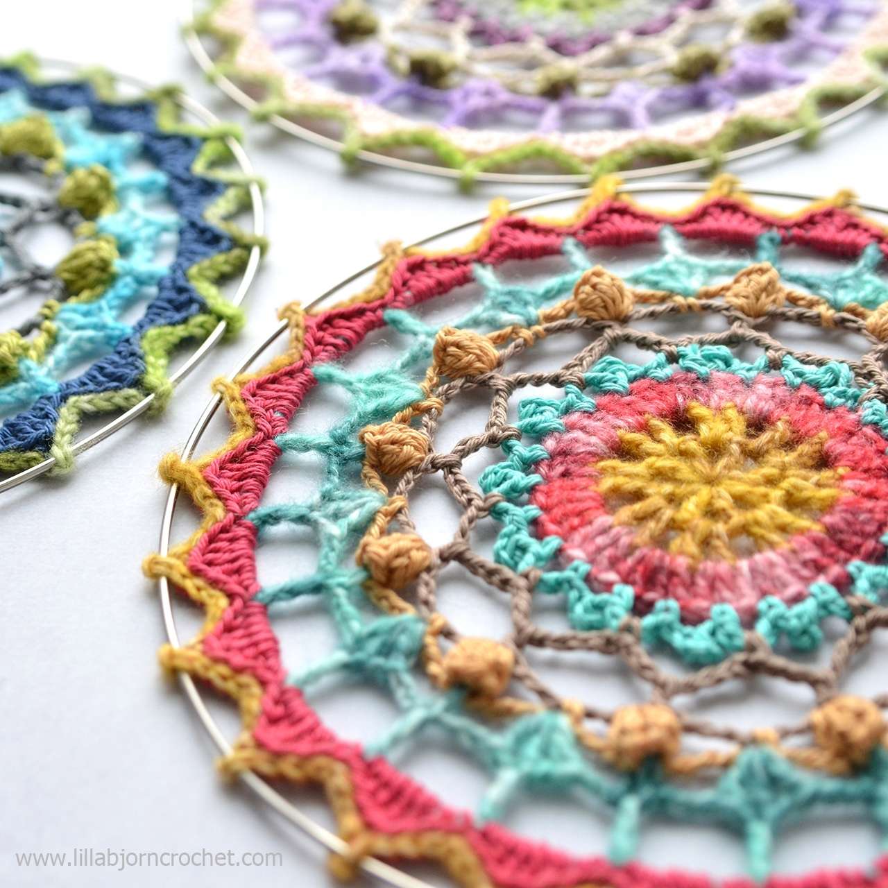 Spirit Mandala: Free Crochet Pattern | Lillabjörn's Crochet World inside Crochet Wall Art (Image 19 of 20)