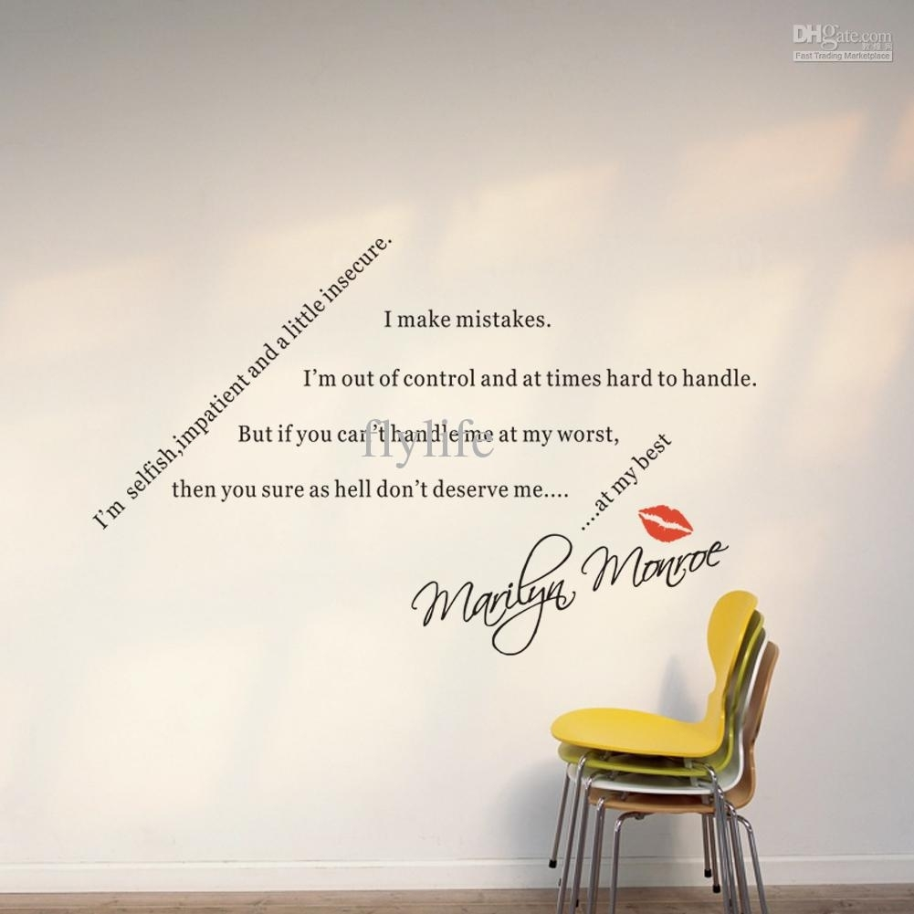 Spiritual Quotes Sayings For Loversmarilyn Monroe Diy Wall With Wall Art Sayings (View 11 of 20)