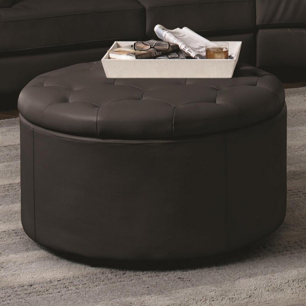 Splendiferous Large Ottoman Coffee Table Ottoman Coffee Table Square inside Round Button Tufted Coffee Tables (Image 28 of 30)
