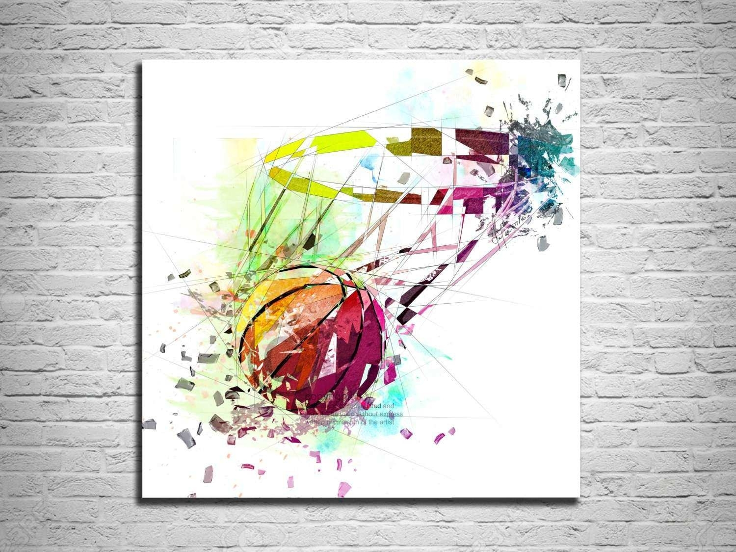 Sports Wall Art Lovely Canvas Print Basketball Art Sports Wall Art Throughout Sports Wall Art (View 13 of 20)