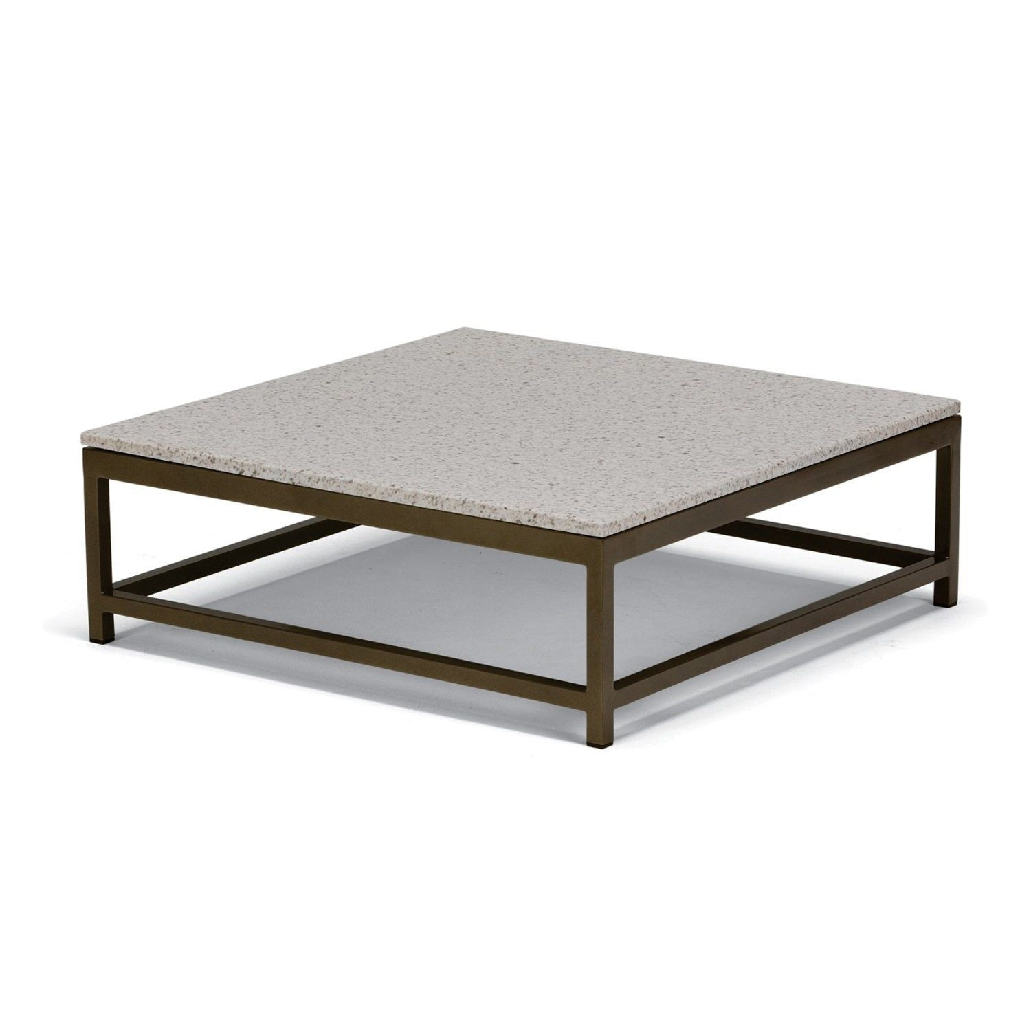 Square Stone Coffee Table Beautiful Tropitone B Cabana Club 34 Regarding Stone Top Coffee Tables (View 21 of 30)