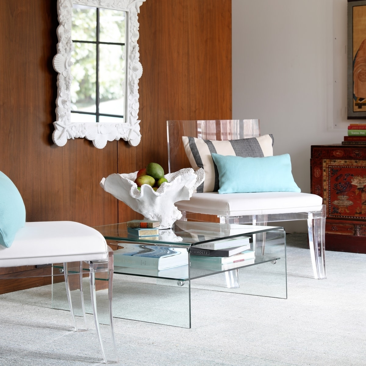 Square Waterfall Coffee Table | Wisteria With Stately Acrylic Coffee Tables (View 25 of 30)