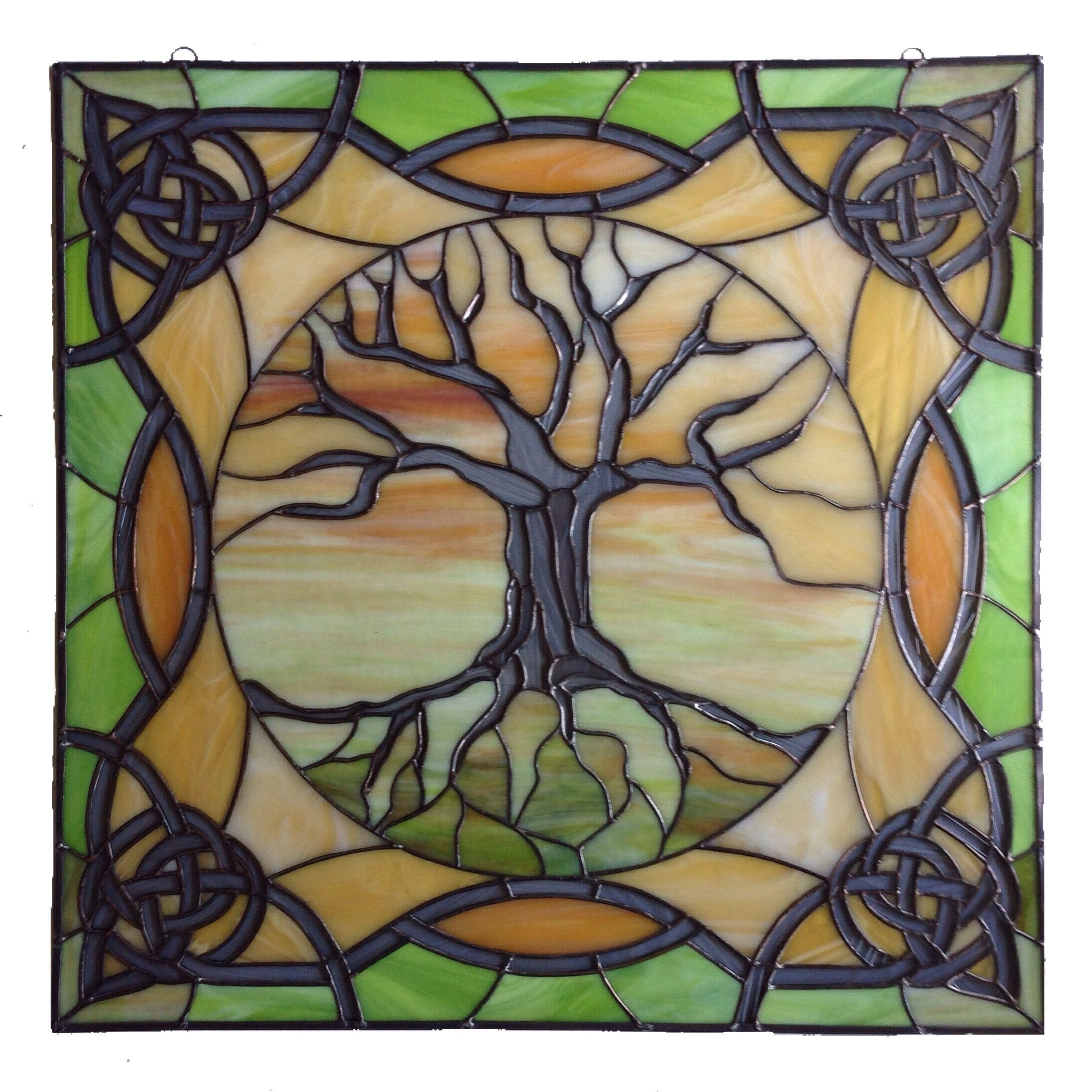 "Stained Glass Wall Art Awesome Stained Glass Panel 26""x26"" ""tree Of For Stained Glass Wall Art (View 20 of 20)"