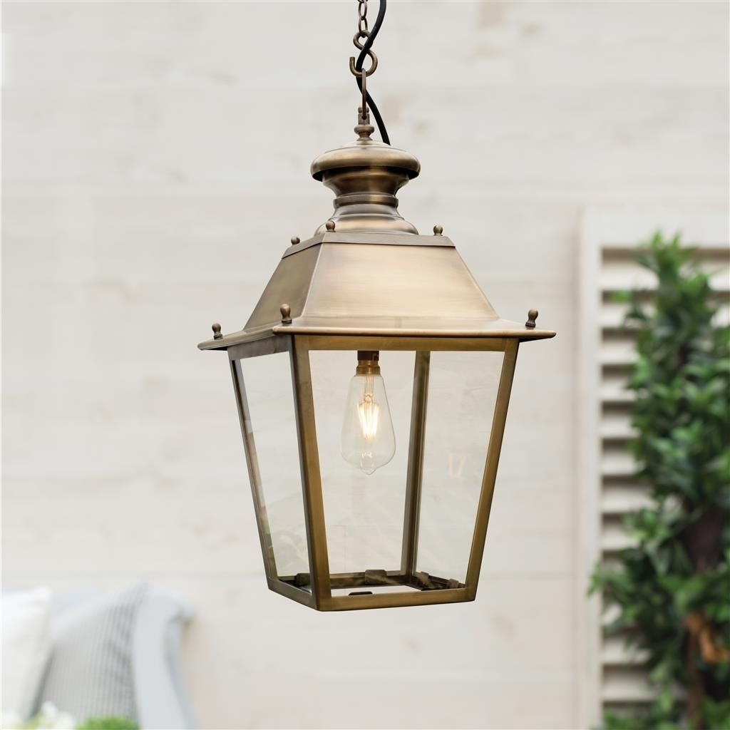 Standard Canterbury Lantern In Antiqued Brass | Canterbury, Antique intended for Outdoor Porch Lanterns (Image 17 of 20)