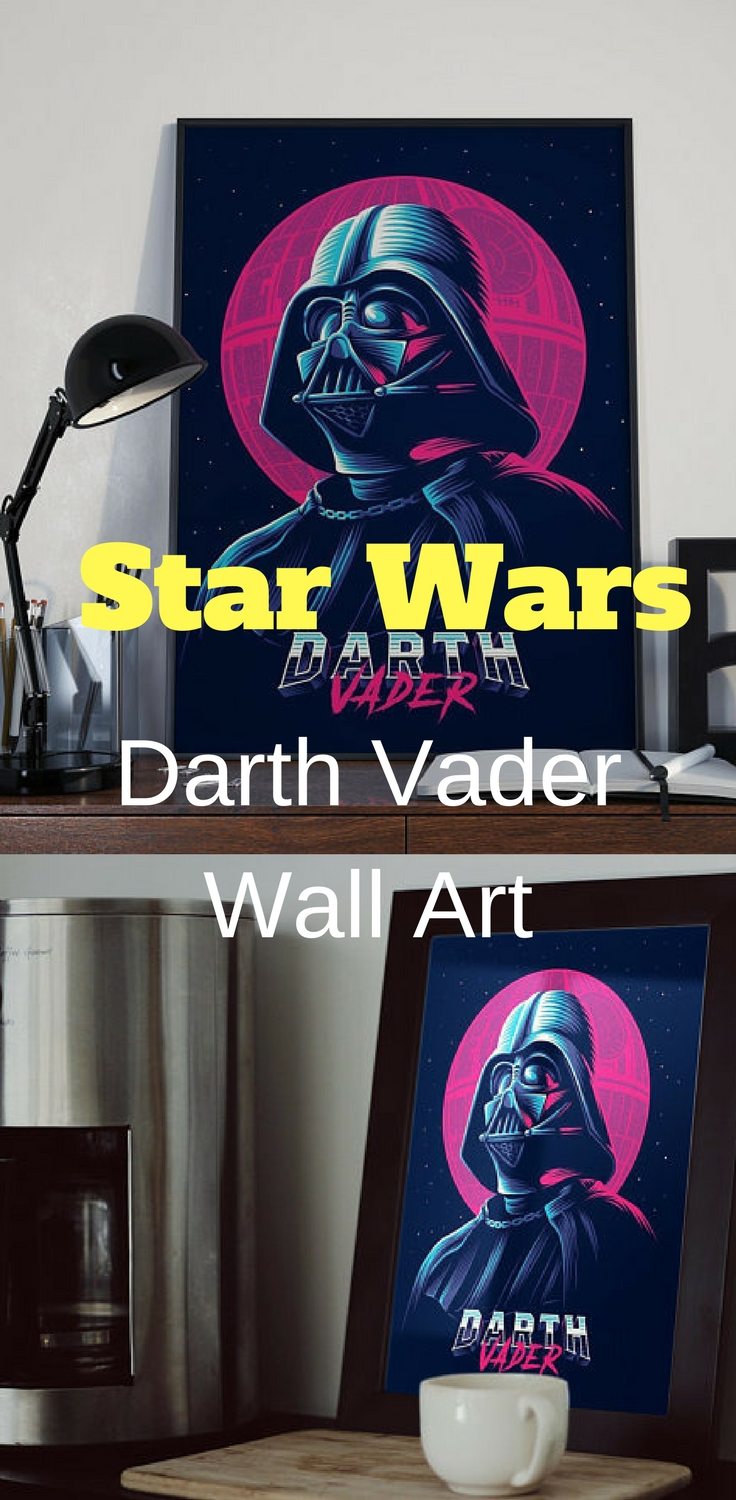 Star Wars Darth Vader Wall Art - Star Wars Wall Art #starwars inside Darth Vader Wall Art (Image 17 of 20)