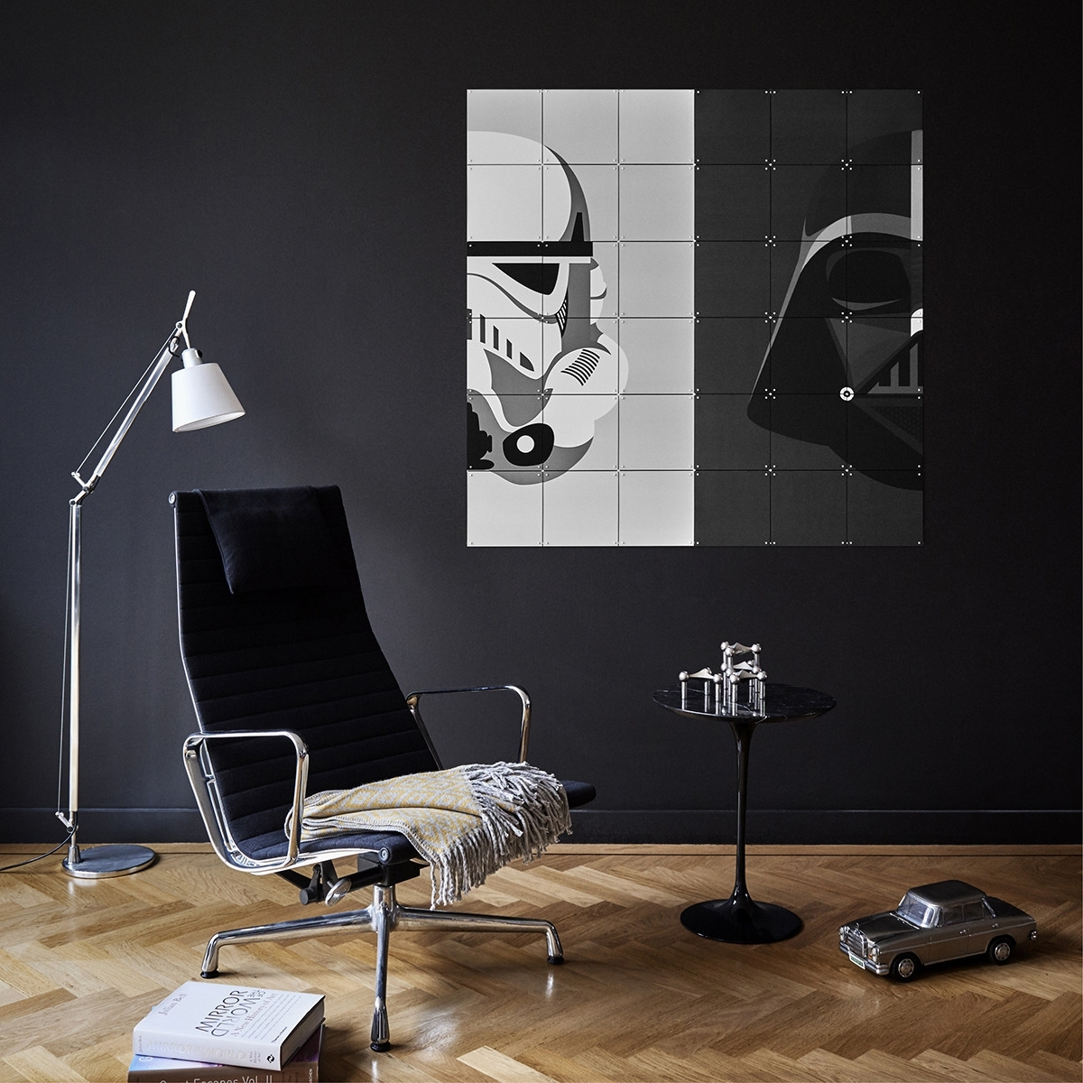 Star Wars Stormtrooper/darth Vader Wall Art Panels – The Basiq Inside Star Wars Wall Art (View 11 of 20)