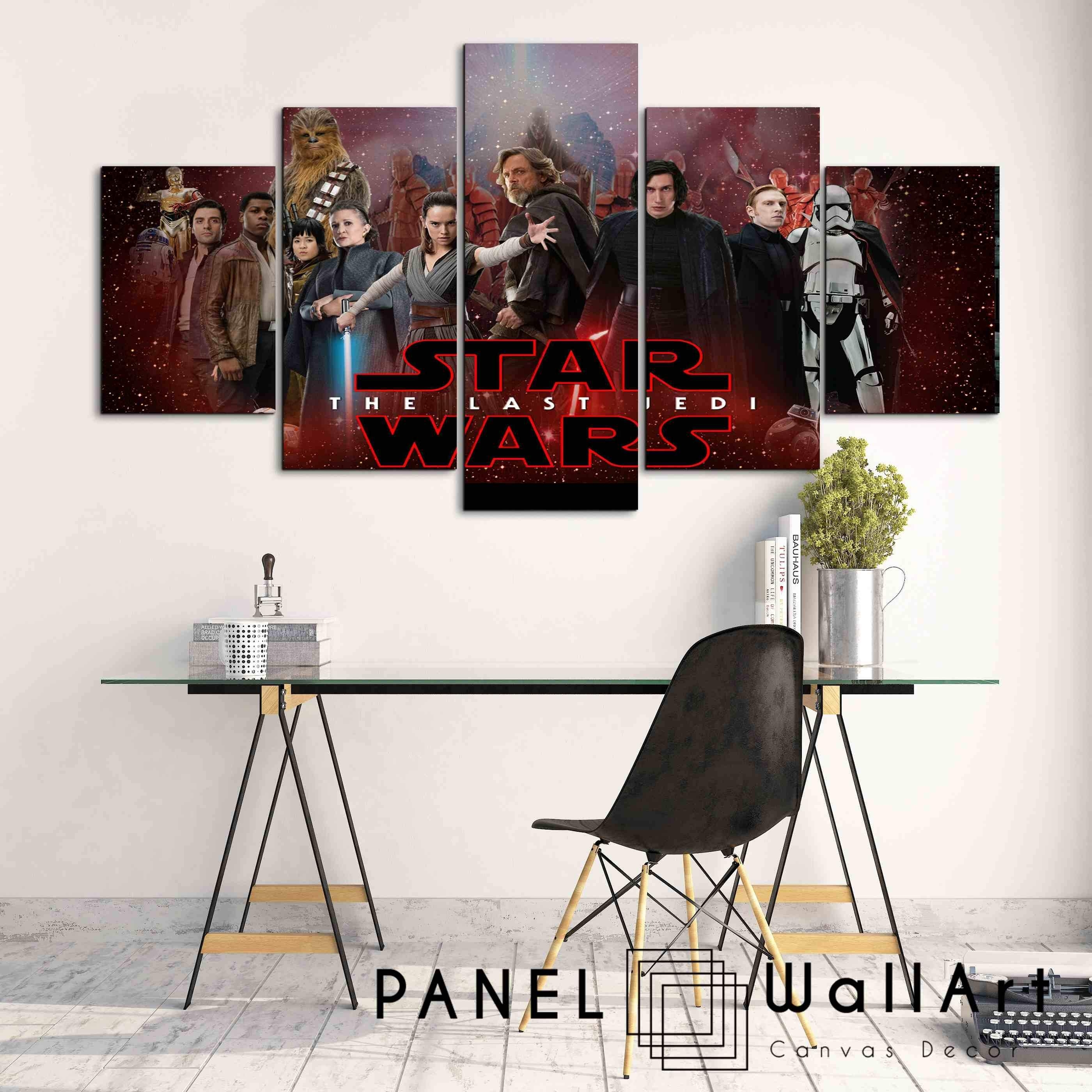 Star Wars The Last Jedi | Panel Wall Art Panelwallart Intended For Star Wars Wall Art (View 13 of 20)