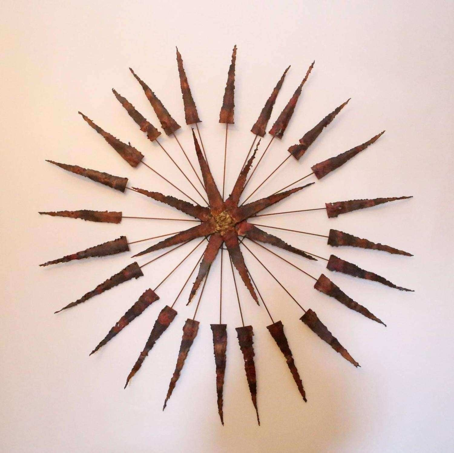 Starburst Wall Art Awesome Starburst Metal Wall Sculpture For Sale In Starburst Wall Art (View 13 of 20)