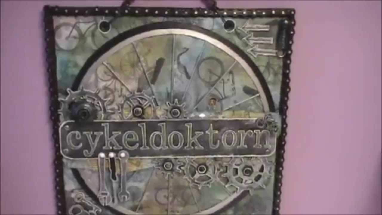 Steampunk Mixed Media Wall Art - Youtube in Steampunk Wall Art (Image 10 of 20)