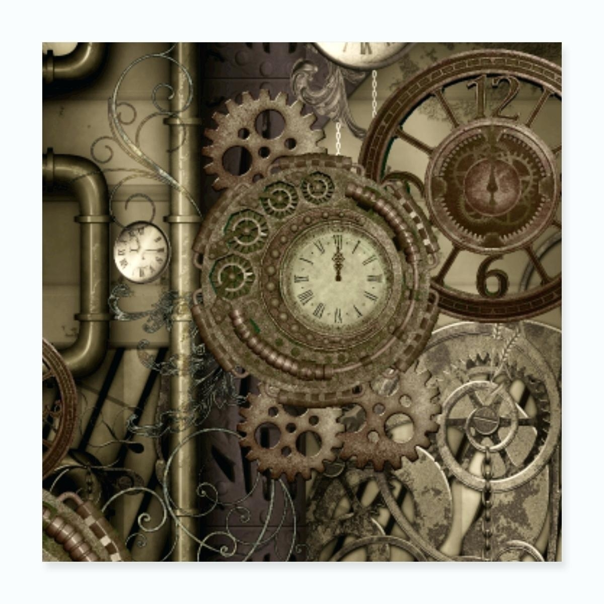 Steampunk Your Home Gears Wall Art Diy – Myyour intended for Steampunk Wall Art (Image 17 of 20)