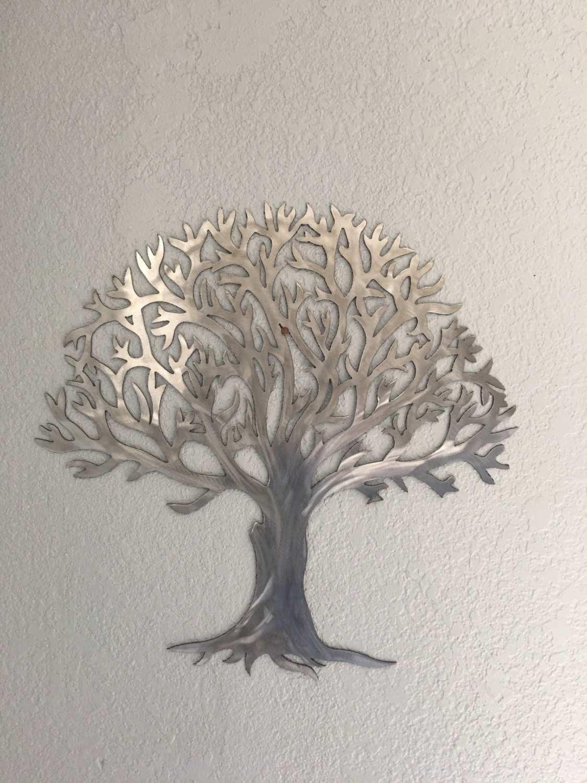 Steel Wall Art Fresh Metal Tree Stainless Steel Tree Wall Art Wall pertaining to Metal Tree Wall Art (Image 14 of 21)
