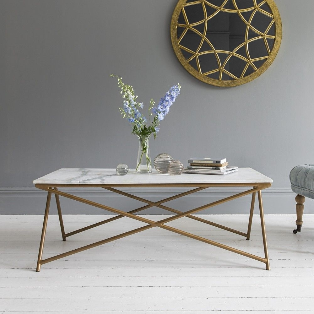 Stellar White Marble Coffee Table – Due May 12Th | Coffee Table Intended For Jackson Marble Side Tables (Image 26 of 30)
