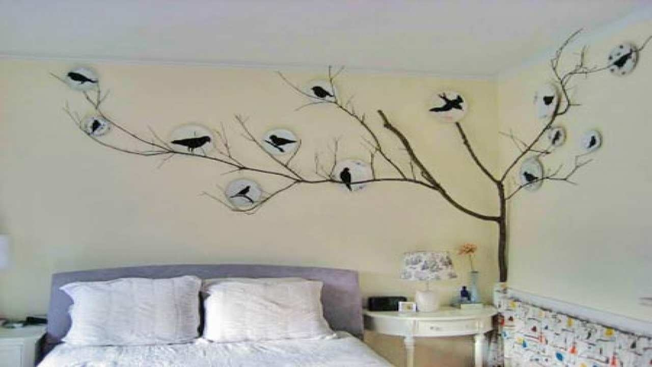 Stencil For Wall Painting Lovely Bird Wall Decor Bedroom Stencil with Stencil Wall Art (Image 17 of 20)