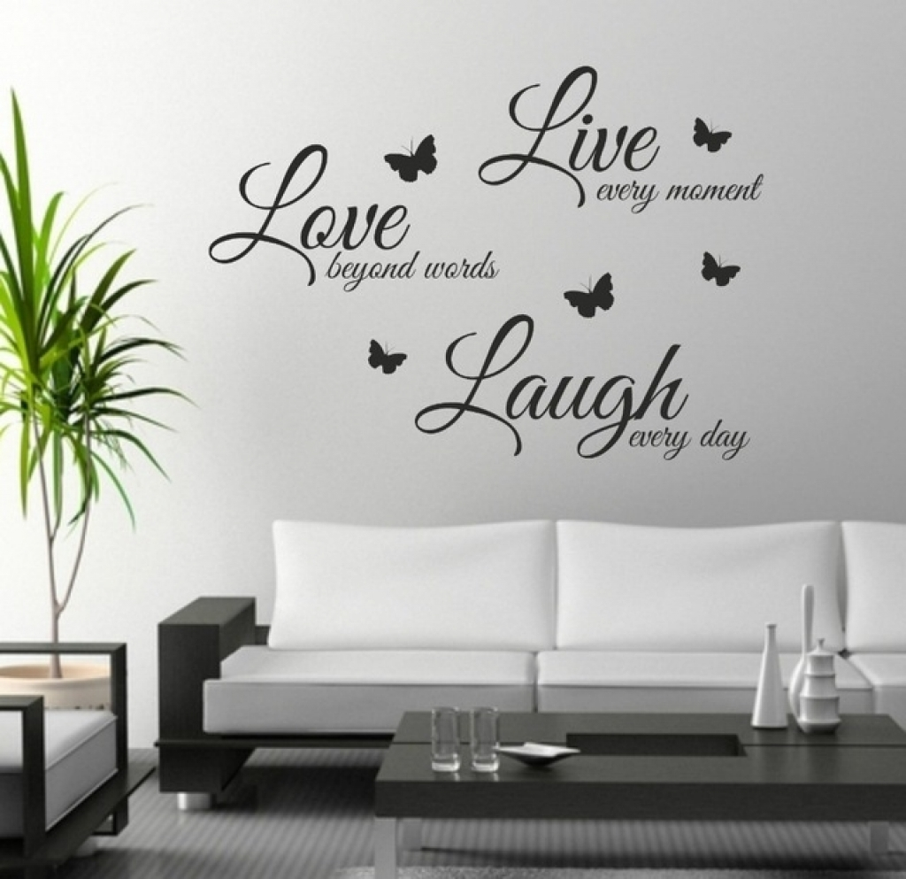 Sticker On Wall Decor Foodymine Live Laugh Love Wall Art Sticker Regarding Live Laugh Love Wall Art (View 18 of 20)