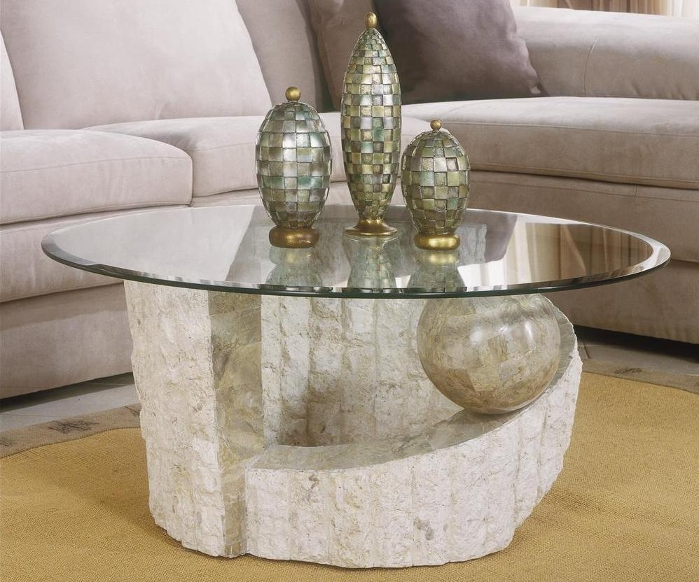 Stone Coffee Table With Glass Top | Coffee Tables With Stone Top Coffee Tables (View 23 of 30)