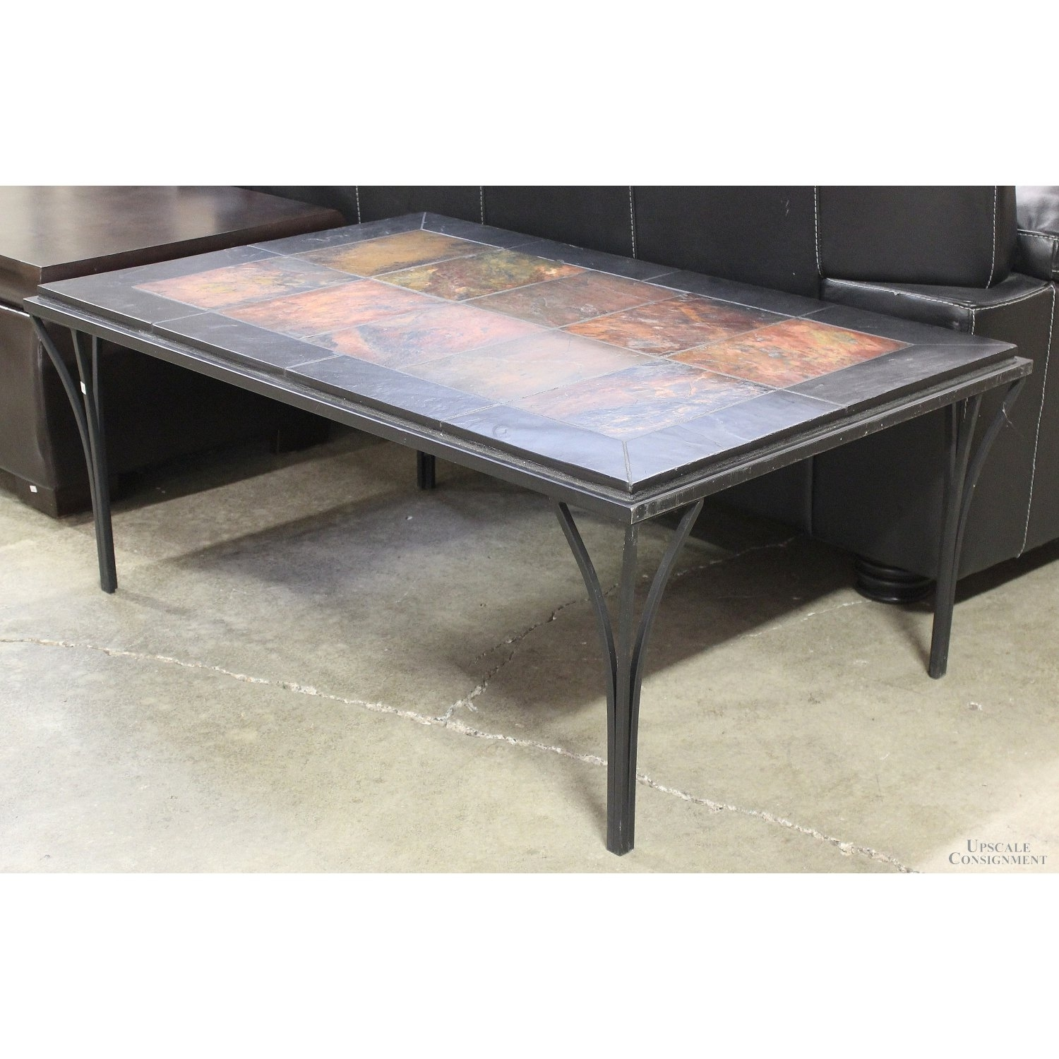 Stone Top Coffee Table | Upscale Consignment For Stone Top Coffee Tables (View 25 of 30)