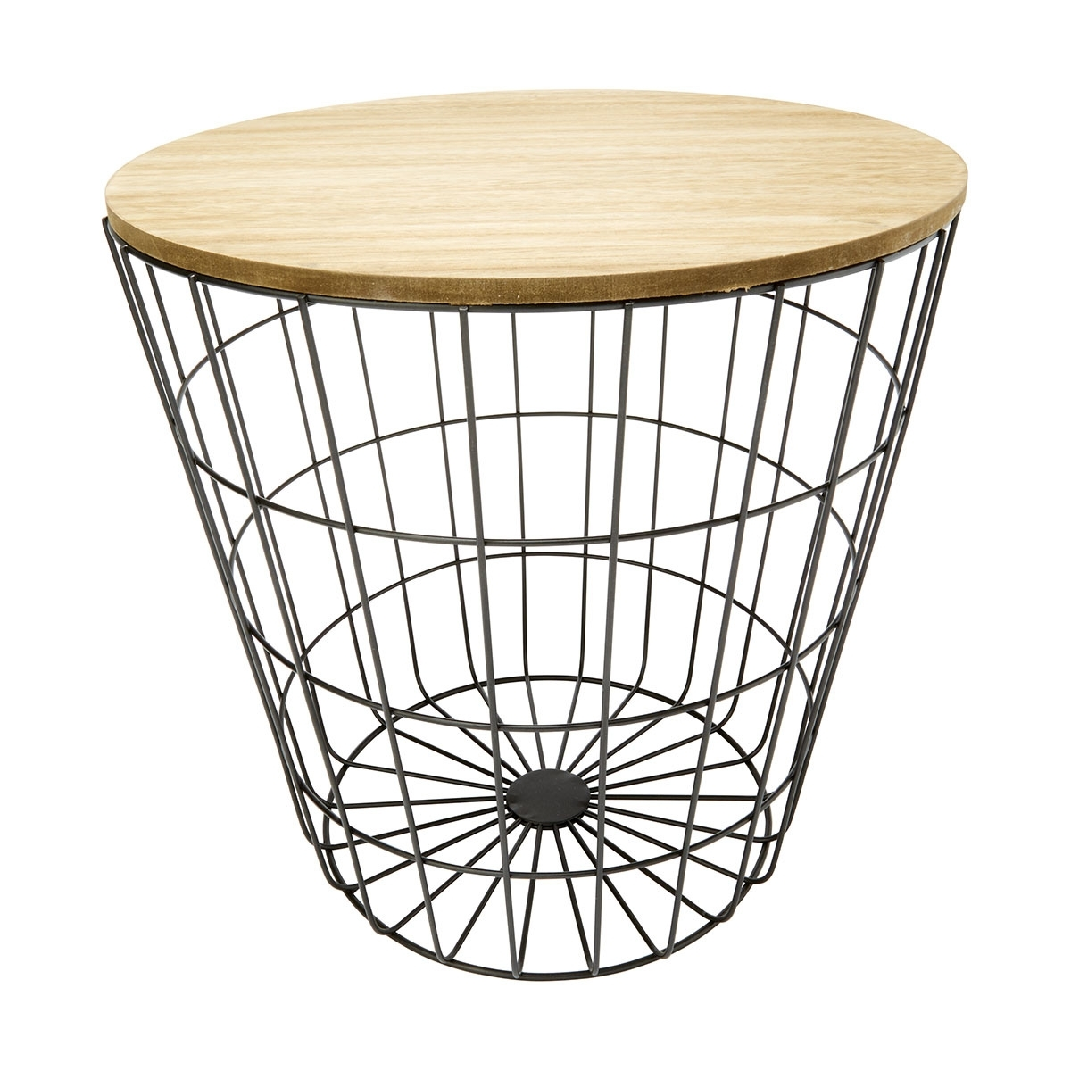 Storage Wire Basket Table Natural Black Kmart Formal Coffee 16 inside Black Wire Coffee Tables (Image 20 of 30)