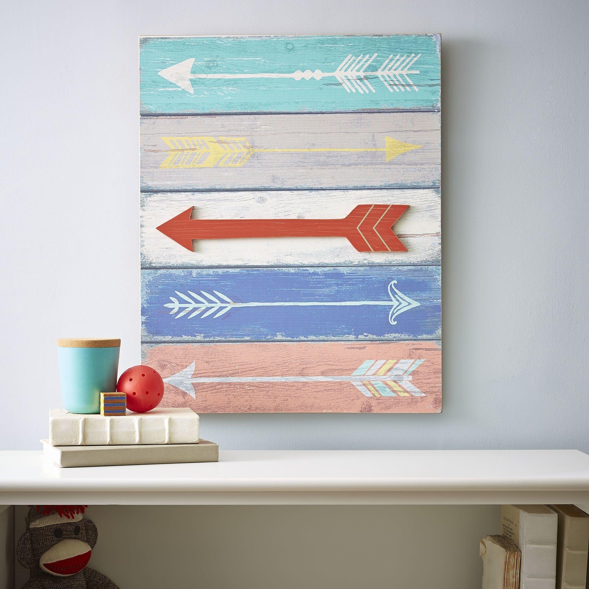 Straight & Arrow Wall Art | Birch Lane Kids | Pinterest | Plank inside Arrow Wall Art (Image 17 of 20)