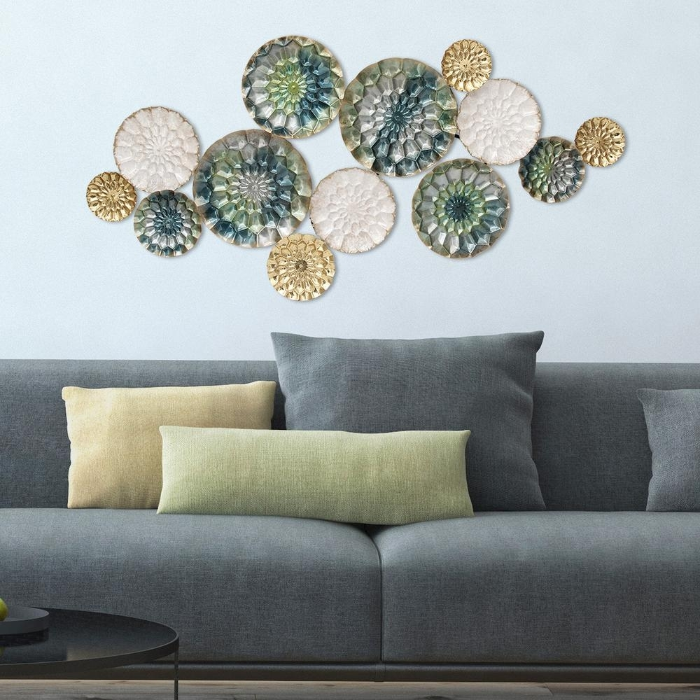 Stratton Home Decor Santorini Metal Wall Decor S07661 – The Home Depot Within Metal Wall Art (View 11 of 20)